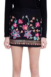 Hayden Los Angeles Embroidrered Mini Skirt - Product Mini Image