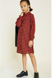 Hayden Los Angeles Flannel Shirt Dress - Product Mini Image