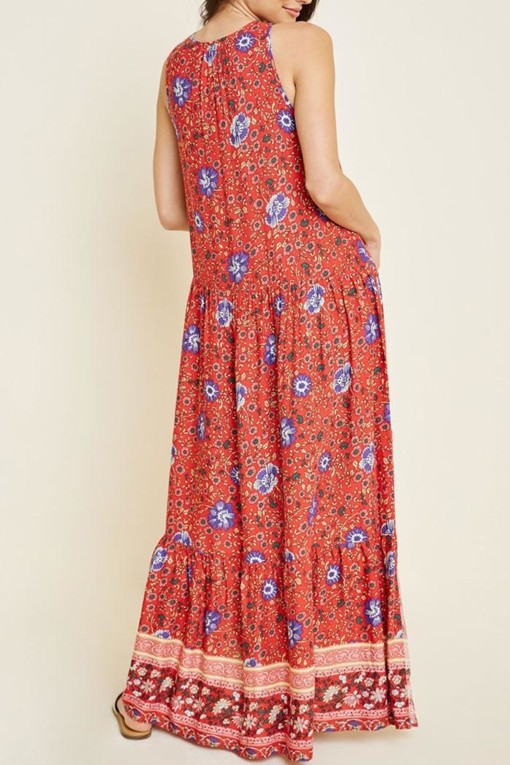 Hayden Los Angeles Floral Maxi Dress - Side Cropped Image