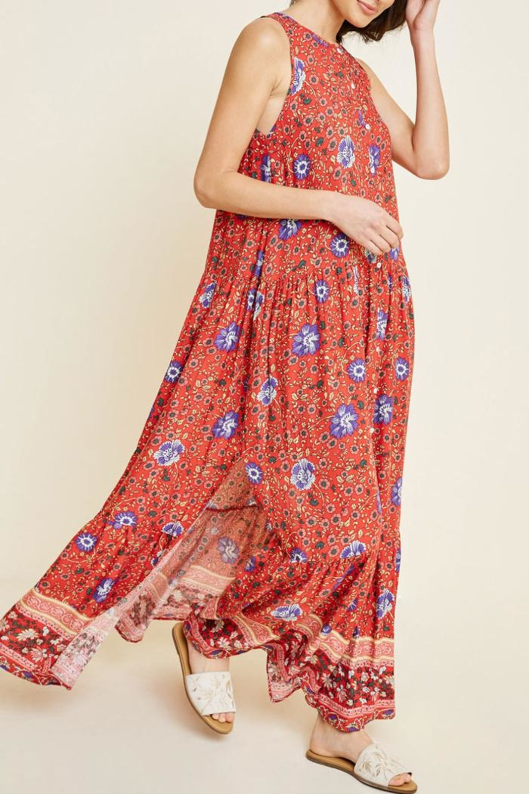 Hayden Los Angeles Floral Maxi Dress - Front Full Image