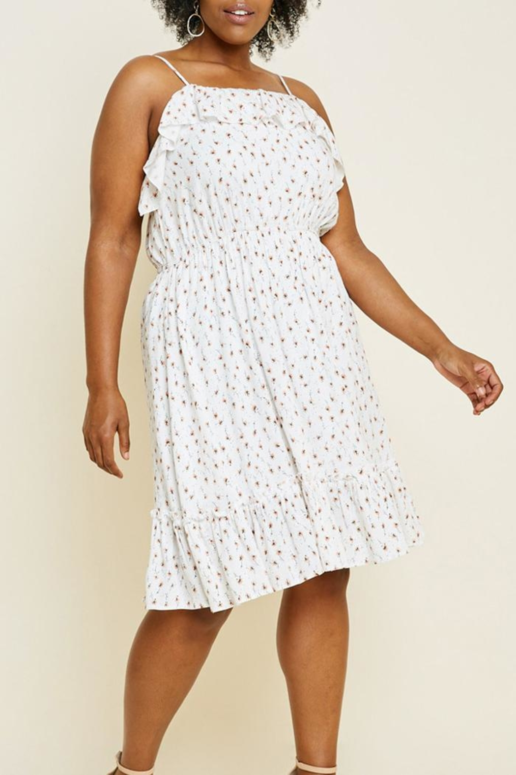 Hayden Los Angeles Floral Ruffle Dress - Main Image