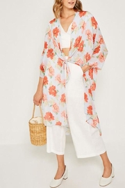 Hayden Los Angeles Floral Tie-Front Kimono-Duster - Product Mini Image