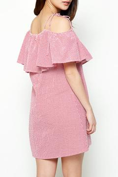Shoptiques Product: Gingham Off Shoulder Dress