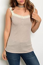 Hayden Los Angeles Lace Cami - Front cropped