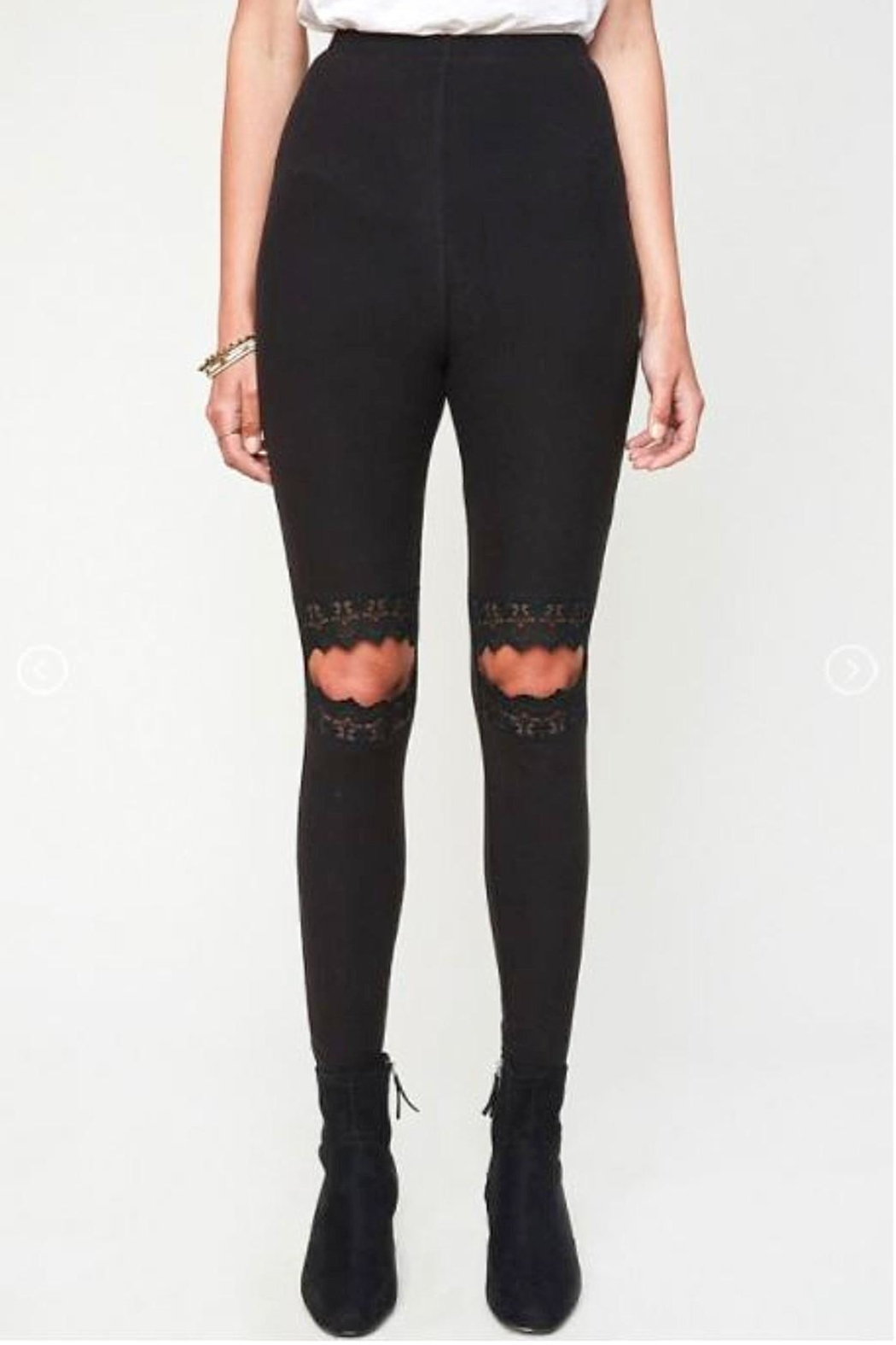 Hayden Los Angeles Lace Cut-Out Leggings - Main Image