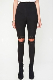 Hayden Los Angeles Lace Cut-Out Leggings - Product Mini Image
