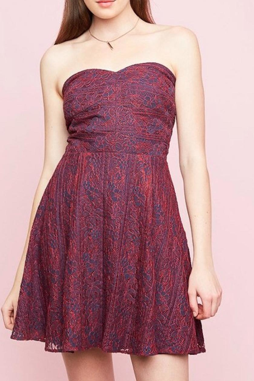 Hayden Los Angeles Lace Sweetheart Dress - Front Full Image