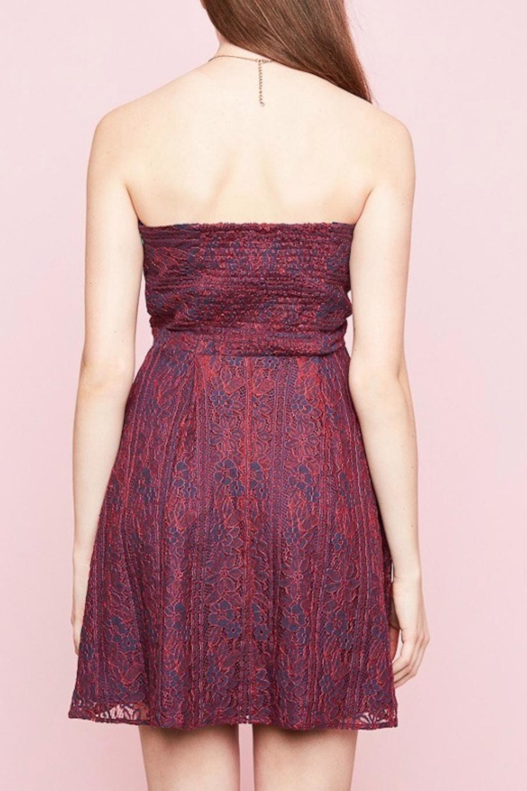Hayden Los Angeles Lace Sweetheart Dress - Side Cropped Image