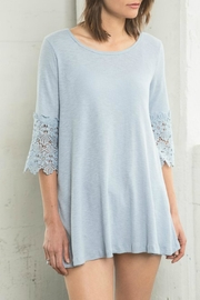 Hayden Los Angeles Lace Trim Top - Product Mini Image