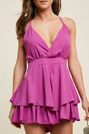 Hayden Los Angeles Layered Ruffle Romper - Front cropped