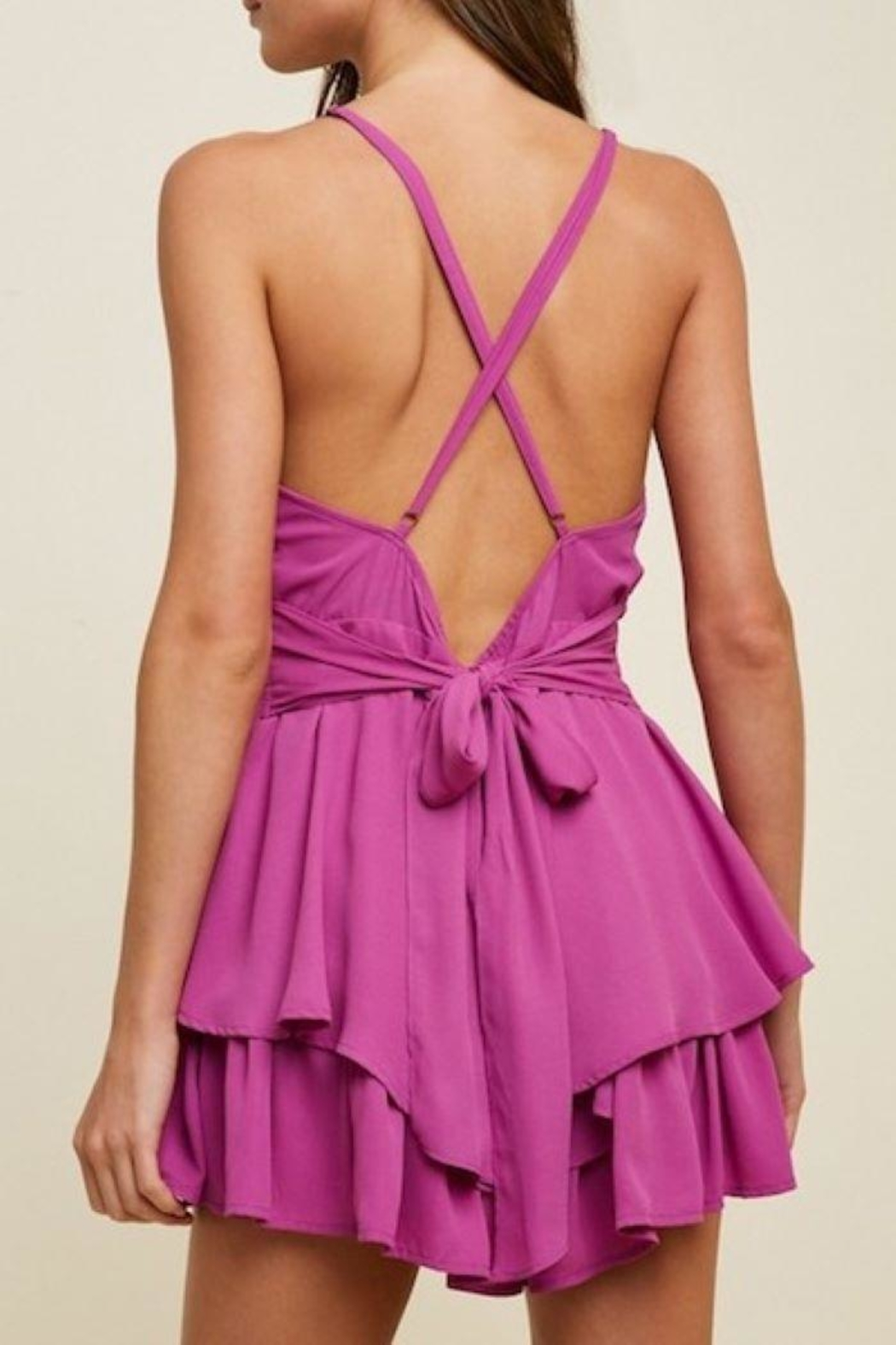 Hayden Los Angeles Layered Ruffle Romper - Side Cropped Image
