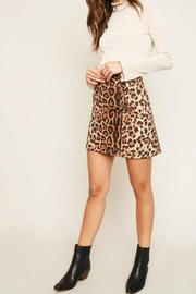 Hayden Los Angeles Leopard Lace-Up Skirt - Product Mini Image