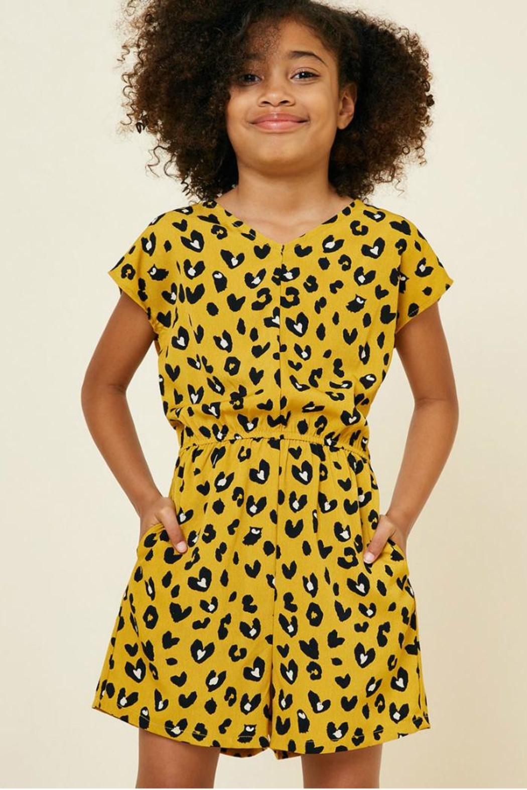 Hayden Los Angeles Leopard Pocket Romper - Front Full Image