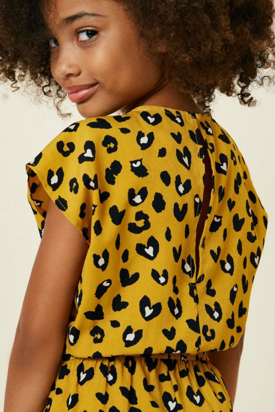 Hayden Los Angeles Leopard Pocket Romper - Back Cropped Image