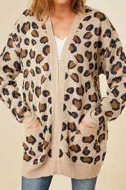 Hayden Los Angeles Leopard Print Knit-Cardigan - Front cropped