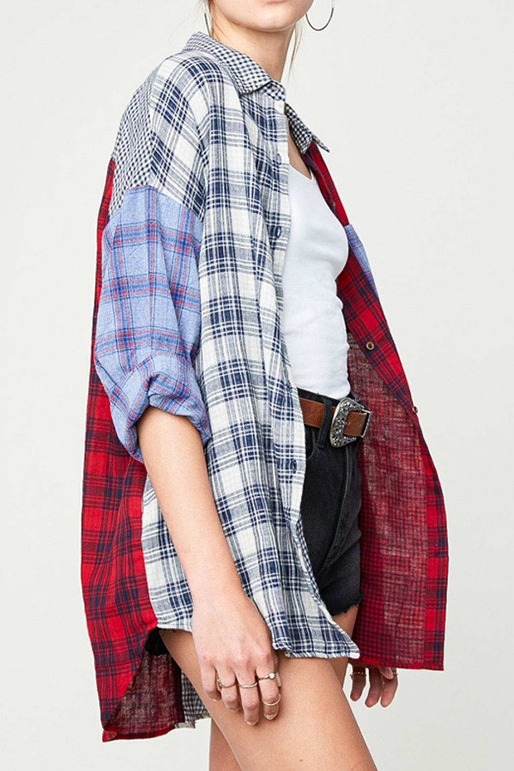 Hayden Los Angeles Mixed Plaid Shirt - Front Full Image