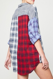 Hayden Los Angeles Mixed Plaid Shirt - Side cropped