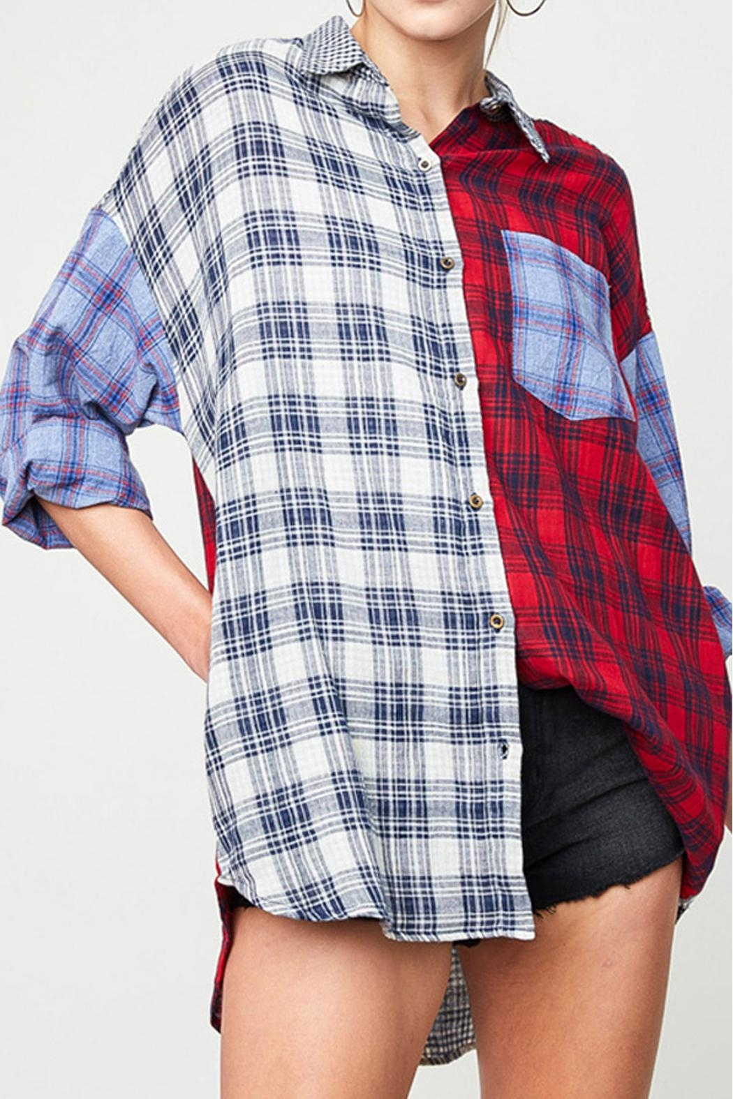 Hayden Los Angeles Mixed Plaid Shirt - Main Image
