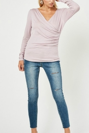 Hayden Los Angeles Mockwrap Cinched Blouse - Product Mini Image