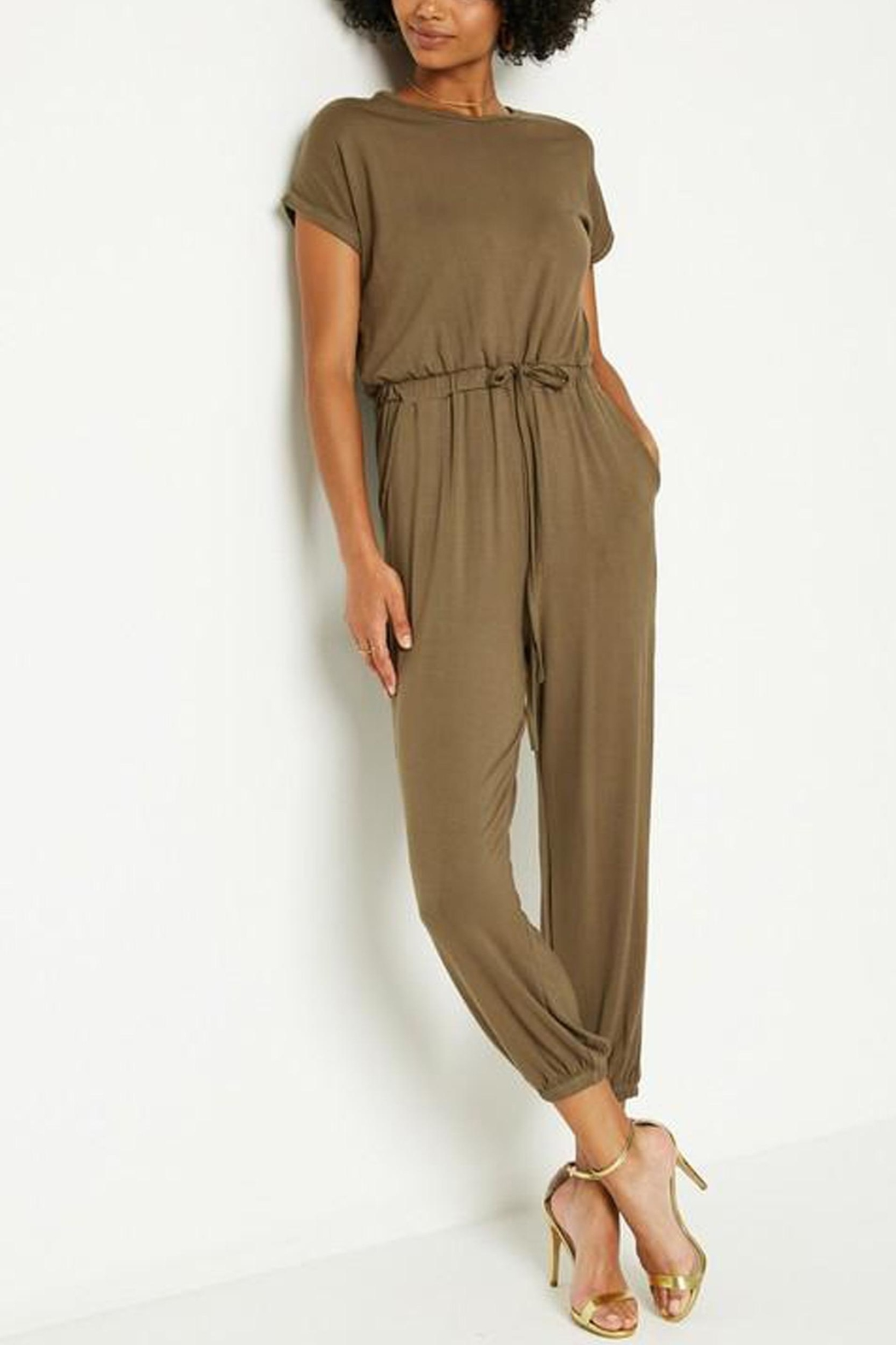 Hayden Los Angeles Olive Lounge Jumpsuit - Main Image
