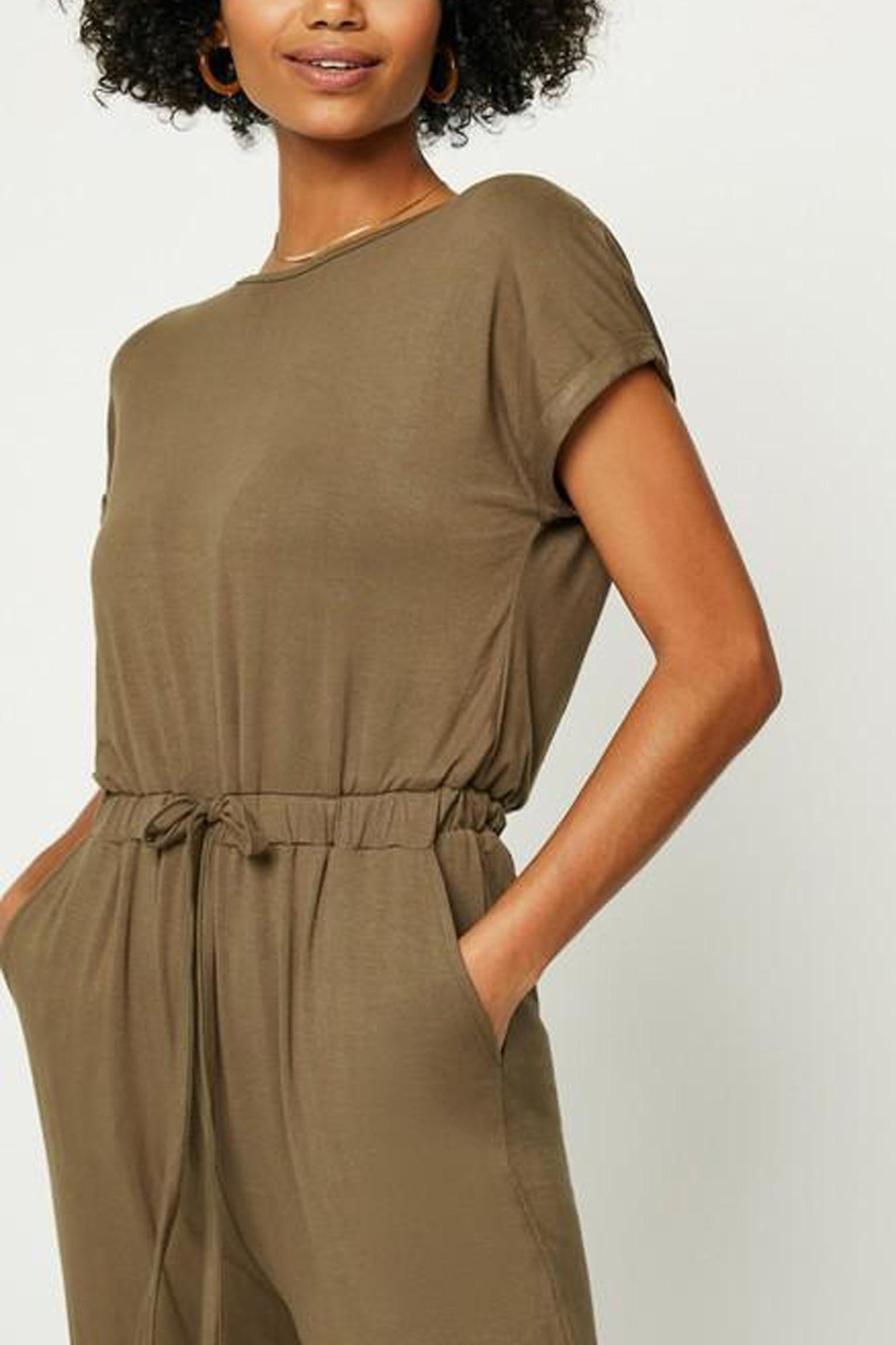 Hayden Los Angeles Olive Lounge Jumpsuit - Front Full Image
