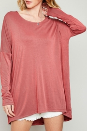 Hayden Los Angeles Oversized Drop-Shoulder Tunic - Product Mini Image