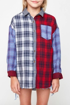 Hayden Los Angeles Plaid Button-Up Top - Product List Image
