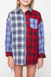 Hayden Los Angeles Plaid Button-Up Top - Product Mini Image