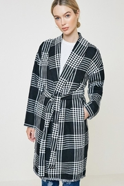 Hayden Los Angeles Plaid Knit Duster Coat - Product Mini Image