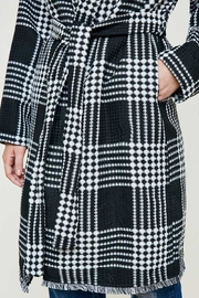 Hayden Los Angeles Plaid Knit Duster Coat - Side cropped