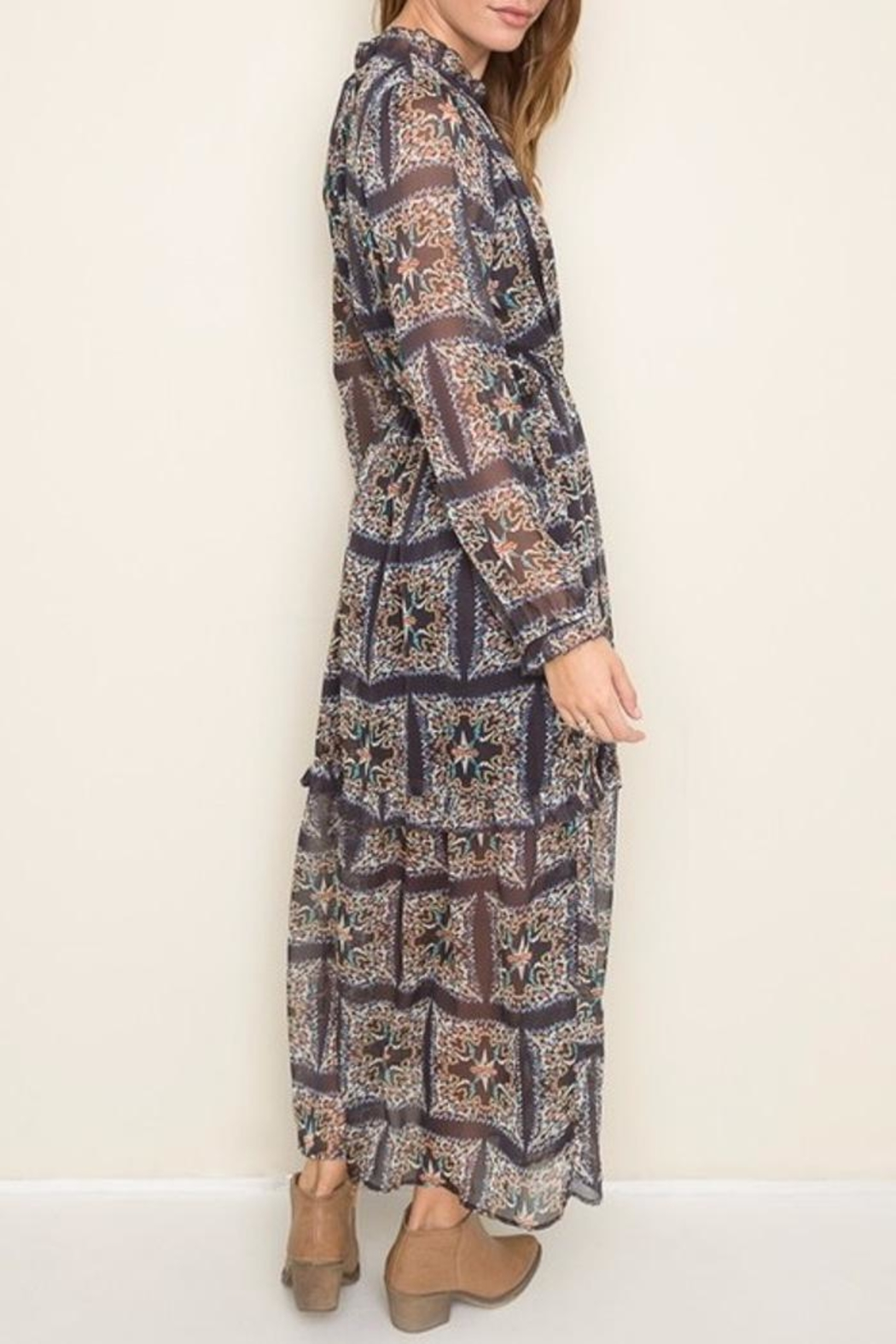 Hayden Los Angeles Print Maxi Dress - Side Cropped Image