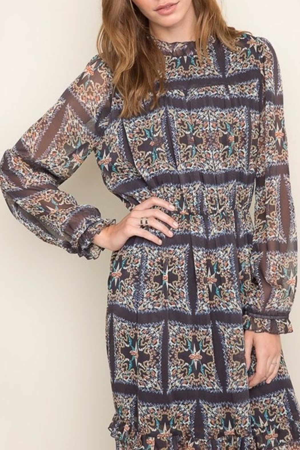 Hayden Los Angeles Print Maxi Dress - Front Full Image