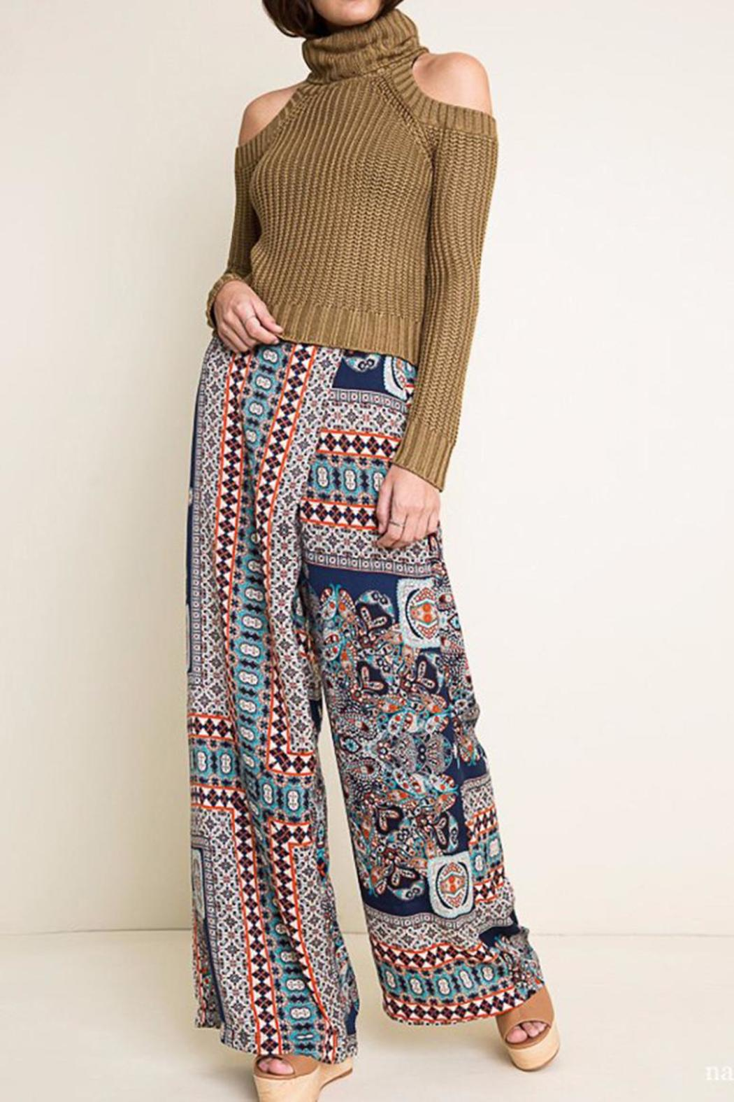 Hayden Los Angeles Print Wide Leg Pants - Main Image