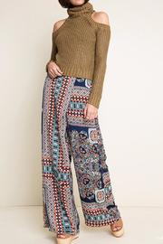 Hayden Los Angeles Print Wide Leg Pants - Back cropped