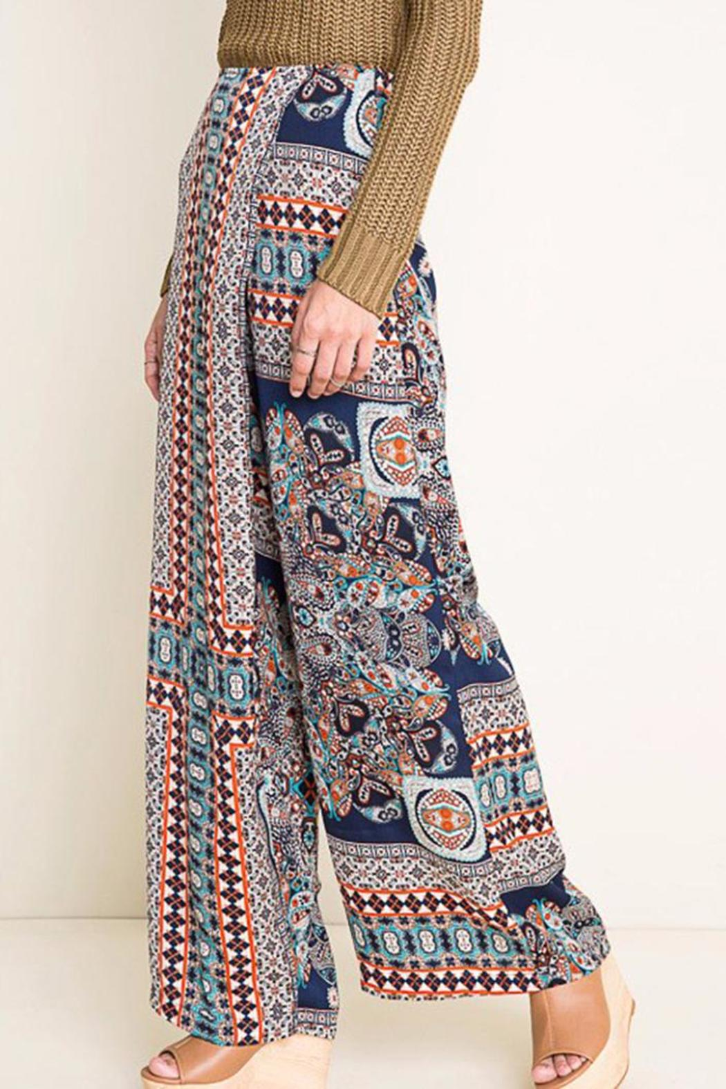 Hayden Los Angeles Print Wide Leg Pants - Front Full Image