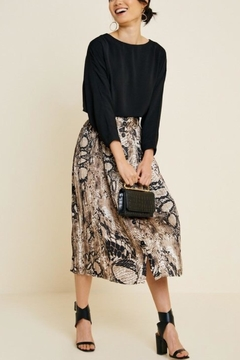 Hayden Los Angeles Python Midi Skirt - Alternate List Image