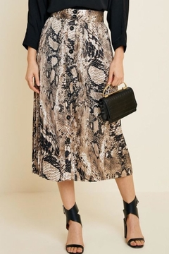 Hayden Los Angeles Python Midi Skirt - Product List Image