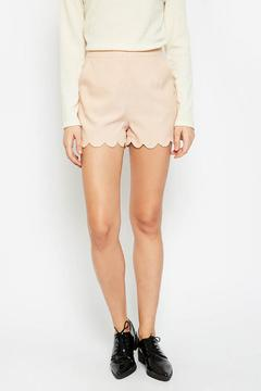 Hayden Los Angeles Scalloped Edge Shorts - Product List Image