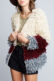 Hayden Los Angeles Shaggy Sweater Jacket - Front cropped