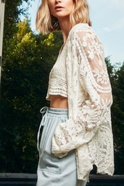 Hayden Los Angeles Sheer Floral-Lace Cardigan - Product Mini Image