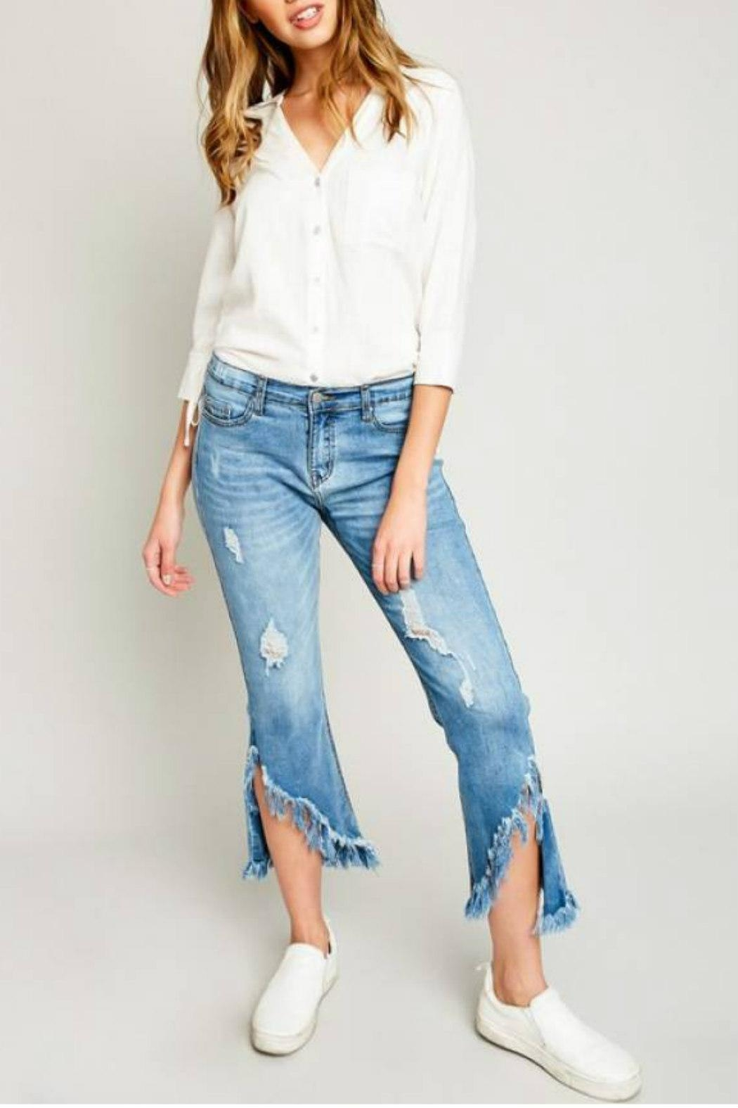 Hayden Los Angeles Shredded Hem Denim - Main Image