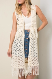 Hayden Los Angeles Sleeveless Crochet Vest - Product Mini Image