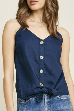 Hayden Los Angeles Sleeveless Linen Top - Product List Image