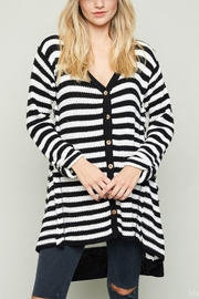 Hayden Los Angeles Stripe Cardigan Sweater - Product Mini Image