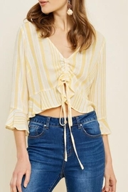 Hayden Los Angeles Stripe Ruched Top - Product Mini Image