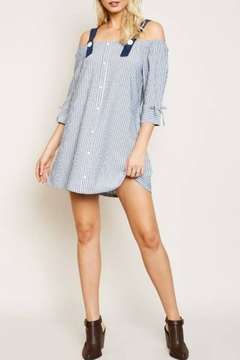 Hayden Los Angeles Striped Button-Strap Tunic - Product List Image