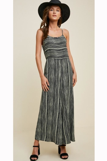 Hayden Los Angeles Striped Cross-Back Jumpsuit from Oregon by Patina Soul — Shoptiques
