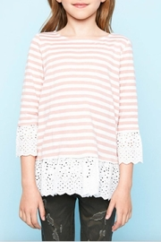 Hayden Los Angeles Striped Eyelet Top - Product Mini Image
