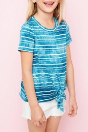 Hayden Los Angeles Striped Tie-Dye Top - Product Mini Image