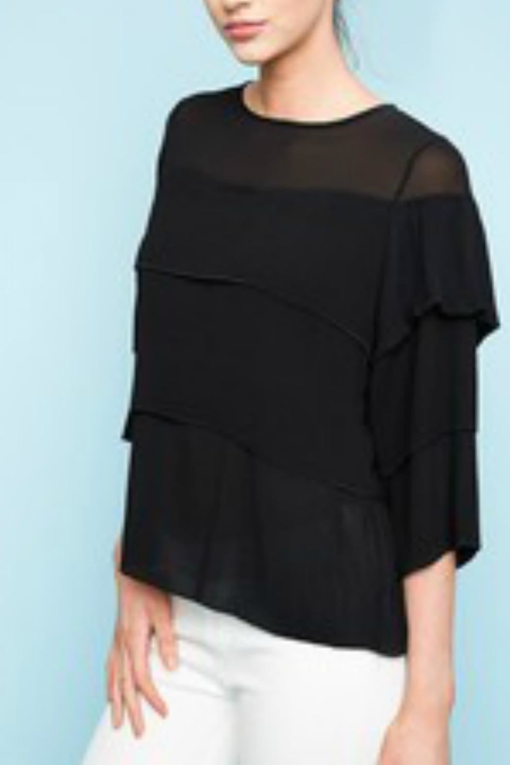 Hayden Los Angeles Tiered Chiffon Blouse - Front Cropped Image